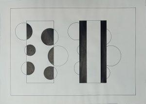 Ink on cardboard, Gaetano Kanizsa