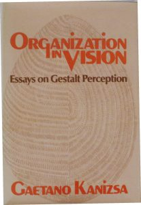 """Cover of """"Organization in Vision"""", the book collects the most important works of Gaetano Kanizsa and contributed to his fame (1979)"""