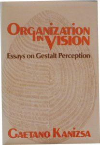 """Copertina di """"Organization in Vision"""", libro che raccoglie i più importanti lavori di Gaetano Kanizsa e che tanto contribuì alla sua notoreità (1979)"""