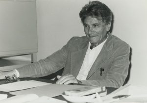 Gaetano Kanizsa in his study, University of Trieste (1953)