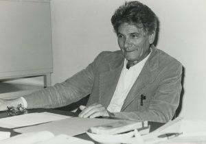 Gaetano Kanizsa nel suo studio, Università degli Studi di Trieste (1953)