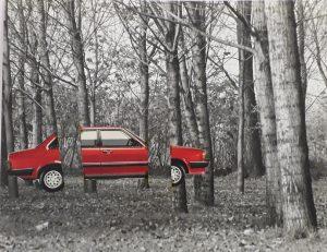 """Tecnica a mosaico usata da Gaetano Kanizsa per ottenere la Fotografia dell' immagine presentata nell'articolo  """"seeing and thinking"""" (1985)"""