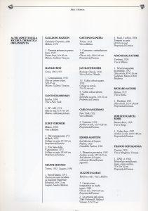 Estratto del catalogo della XLII Biennale d'arte di Venezia con l'elenco di alcuni artisti, tra i quali si legge l'opera esposta da Kanizsa (1986)
